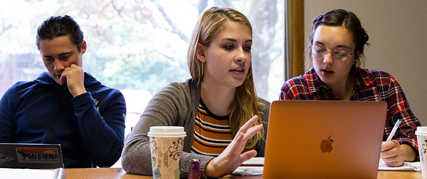 George Fox's communication arts major integrates Christian values in the discipline.