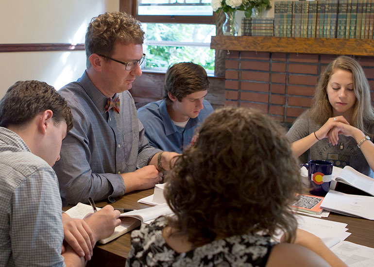 George Fox theology majors use Scripture as the basis for their education.