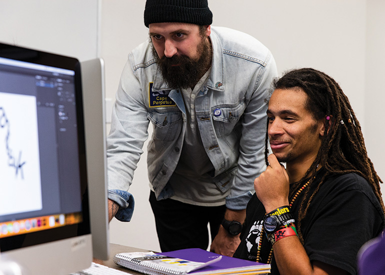 Graphic design majors at George Fox study at one of the West Coast's top Christian colleges