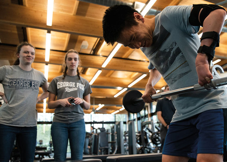 For years a limb abnormality kept Evan Bonazzola from working out – until a team of student engineers created a solution that led to a day he won't soon forget
